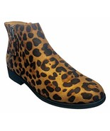 Time and Tru Women Two Zip Ankle Boot in Leopard (10) - £31.06 GBP