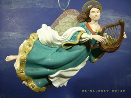 "VINTAGE HALLMARK KEEPSAKE ARCHIVES ORNAMENT ""HEAVENLY MELODY"" ANGEL & HA... - $14.21"