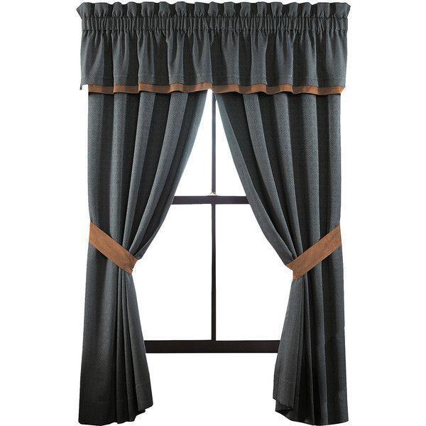 Croscill Regalia Pole-Top Window Drapery Curtain Panel Set,Gold 82 x 84