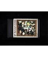 Tchotchke Framed Stamp Art Collectable Postage Stamp - Floral Arrangement - $8.95
