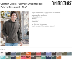 10 Comfort Colors Garment Dye Hooded Sweatshirt Bulk Lot Hoodie S-XL & C... - $260.00