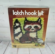 "YKI Valiant Crafts Latch Hook Kit Sealed Box 12"" X 12"" Racoon 9640 Rare ... - $33.87"