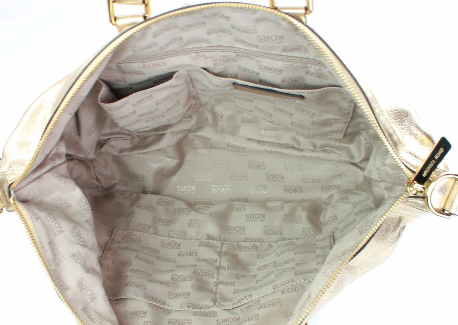 michael kors cuero BEDFORD dorado bolsa de hombro