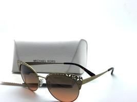 Michael Kors Women's Evy MK1023 MK/1023 118918 Satin Pale Gold Sunglasses 56mm - $67.87