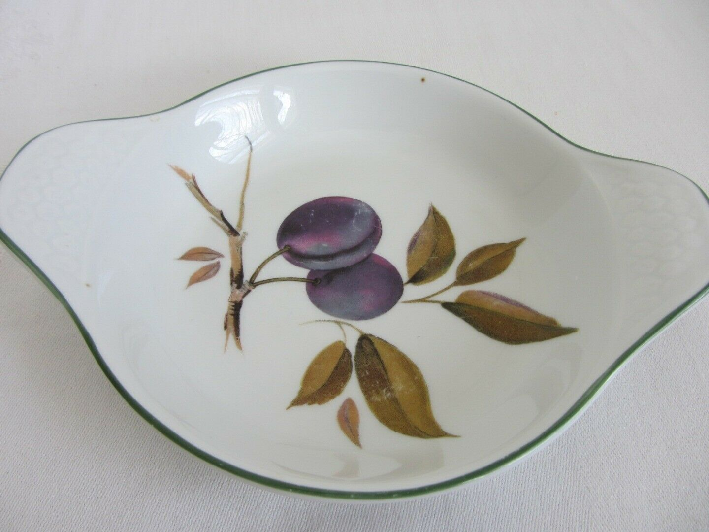 4 Royal Worcester Evesham Vale Individual Au Gratin Dishes 2 Green + 2 Gold