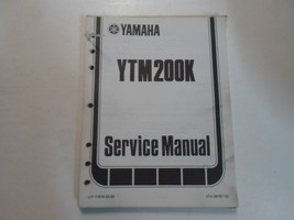 1982 Yamaha YTM200K Service Réparation Manuel Feuilles Taché Usinage Oem Livre - $27.84