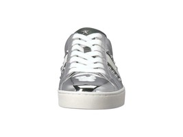 Michael Kors MK Women's Frankie Stripe Leather Sneakers Shoes Silver image 2