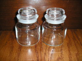 2 Small Empty Yankee Candle Jars 3.7oz. Round Lids Wax And Glue Free. - $8.00