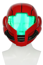 Cosplay Metroid Samus Aran Helmet Deluxe Red Soft Resin Helmet with LED ... - $127.69 CAD