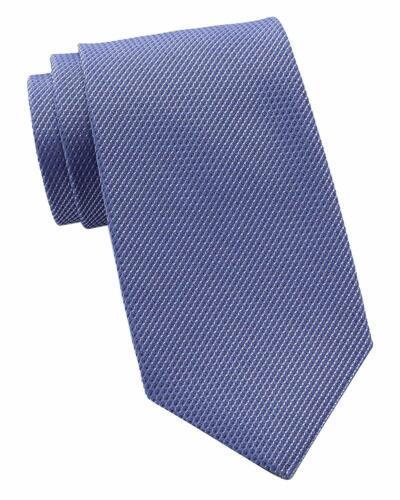 Kenneth Cole Mens Textured Self-tied Necktie (Purple)