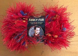 Lion Brand Fancy Fur Yarn - Rainbow Red  - 1.75 oz, 39 yards - $5.90