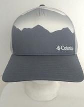 Columbia Apparel Mountain Peaks Hat Cap Gray & White Mesh Back L/XL  - $13.09