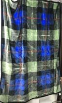 "Vintage San Marcos Large Blanket Reversible Plaid  50""x 60"" - $66.49"