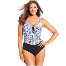 Profile by Gottex Women's Plus Size Kaleidoscope Print One-Piece Swimsuit,  24W - $44.54