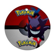 Anime Pokemon X & Y Yveltal Pokeball Gengar Round Procelain Ornament Chr... - $3.95