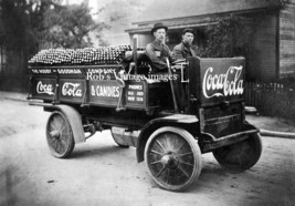 Coca Cola Soda  Advertising Delivery Rapid Truck Photo Vintage1909 era p... - $8.90