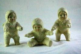 Dept 56 Snowbabies Tumbling Set Of 3 Figurines - $6.92