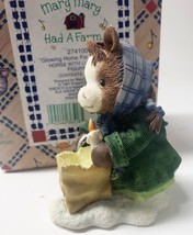 """Enesco Mary Mary Had A Farm #274100 1997 """"Glowing Home for Christmas"""" Horse with - $31.49"""