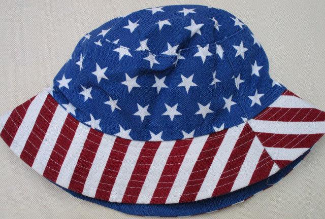 Stripe Stars American Flag Bucket Hat 4th of July Patriotic Cap Women Man Panama