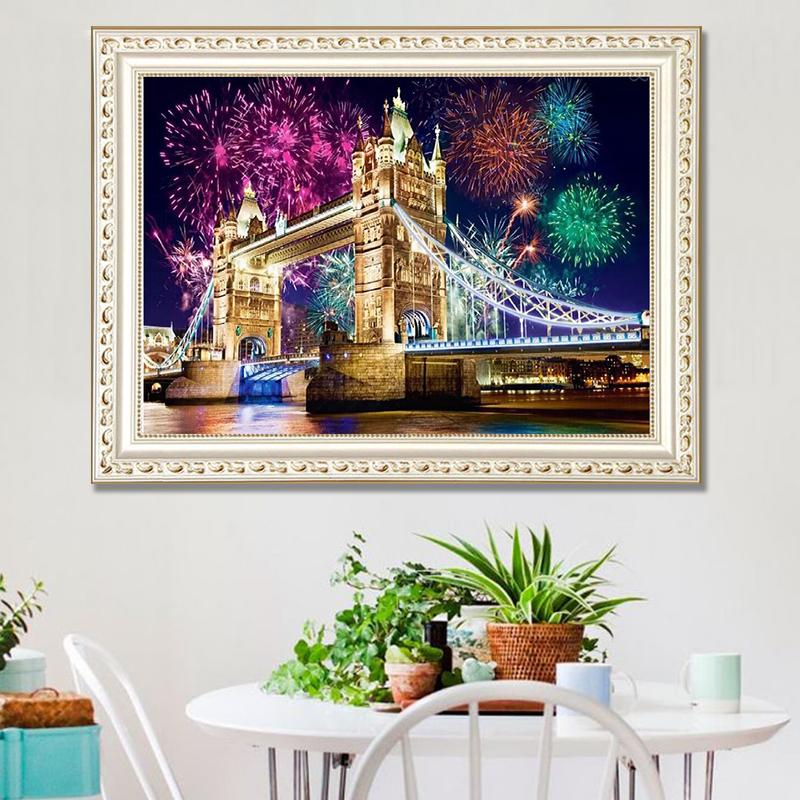 DIY Diamond Painting London Bridge 5D Embroidery Diamond Painting Mosaic Crafts