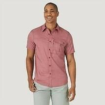 Wrangler Men's Short Sleeve Button-Down Collared Shirt - Red - XL