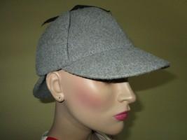 VTG Borsalino Deerstalker Hat Double Bill Sherlock Holmes Gray Wool Cap ... - €23,28 EUR