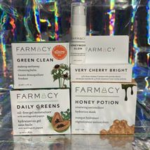 Lot Of 3 Farmacy Full Sized NEW IN BOX  Honey Potion Daily Greens Green Clean image 3