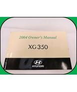 2004 Hyundai XG350 Owners Manual Original OEM Service Maintenance Operators - $14.80