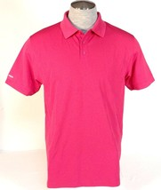 Under Armour Golf Pink Moisture Wicking Short Sleeve Polo Shirt Mens NWT - $63.74