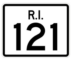 Rhode Island State Road 121 Sticker R4255 Highway Sign Road Sign Decal - $1.45+