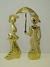 HOMCO Brass Textured Victorian Women Decorative Wall Hangings Home Inter... - $14.85