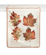 "Nantucket Home ""Love"" Embellished Leaf Beaded Handmade Table Runner, 72-... - $29.39"