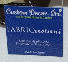 FabriCreations 2236 Fall Greetings Fabric Owl Sculpted Appliqued Embroidered image 6