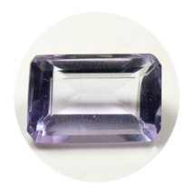 Natural Faceted Purple Amethyst Loose Gemstone 3 Carat Octagon Cut at Wh... - $10.79
