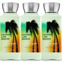 3 Pc. Bath & Body Works Coconut Lime Breeze Body Lotion Set New - $27.10