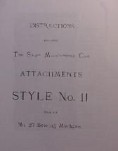 Singer 27 sewing machine attachments Style No. 11 attachments - $9.99