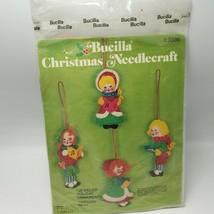Bucilla Jeweled Holiday Ornaments Carolers Needlecrafts Beads Yarn - $19.79