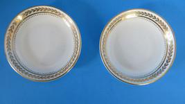 Set of 2 Coalport Golden Melody Saucer - $6.79