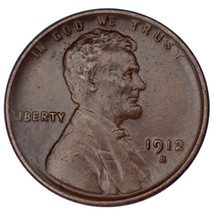 1912-S Lincoln 1C Cent XF Condition, All Brown Color, Nice Detail for Gr... - $64.34