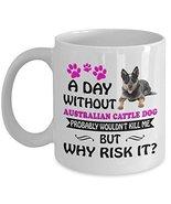 Australian Cattle Dog Mug - Australian Cattle Dog Coffee Mug - Funny Gif... - $14.80