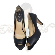 Cole Haan Women's Black Peep Toe Slip-On Career Heels Sz 9B - $34.88