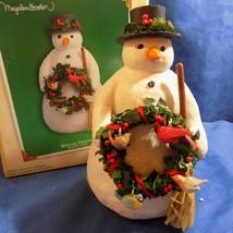 HALLMARK MARJOLEIN BASTIN WINTER FRIENDS SNOWMAN DISPLAY  4 BIRD ORNAMEN... - $29.95