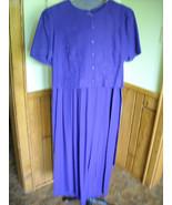 Women's Peri Petites Dress (8) Purple Career Dressy Rayon Blend Tie Back - $18.95