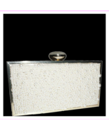 $110 Inc International Concepts Lyvia Imitation Pearl Clutch Ivory Gold - $50.60