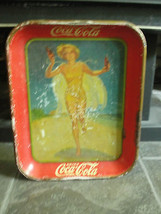 1937 American Artworks Coca-Cola serving tray, old, advertising, girl on... - $165.40