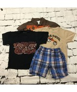Gymboree Oshkosh Old Navy Boys sz 3T Lot of 3 T-Shirts Shorts Shirt - $19.79