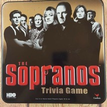 Sopranos Trivia Game in Collector's Tin Box Used Complete HBO Cardinal  - $13.34