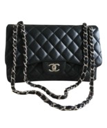 100% Authentic Chanel BLACK QUILTED LAMBSKIN JUMBO CLASSIC DOUBLE FLAP B... - $3,799.99