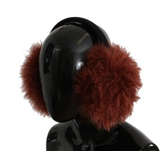 Dolce & Gabbana Red Shearling Alpaga Wool Ear Muffs - $216.45