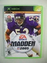 XBOX MADDEN NFL 2005 FOOTBALL GAME WITH MANUAL EA SPORTS - $7.79